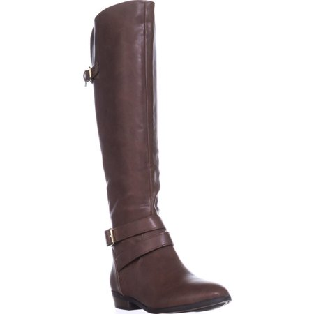 Womens Carleigh Knee High Boots, Cognac