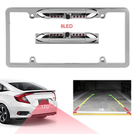 Water-Proof Car Rear View Camera With License Plate Frame HD Backup ...