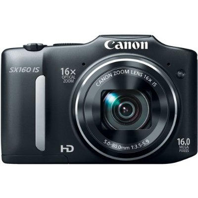 Canon PowerShot SX160 IS 16.0 MP Digital Camera with 16x Wide-Angle Optical Image Stabilized Zoom with 3.0-Inch LCD