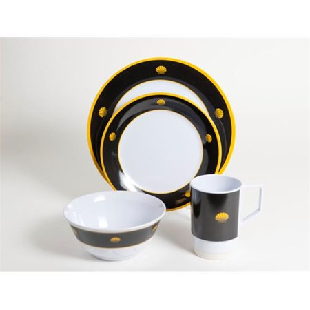 Galleyware 1037-L 16 Decorated Melamine Non-skid 16 Piece Dinnerware Gift (Non Skid Dinnerware)