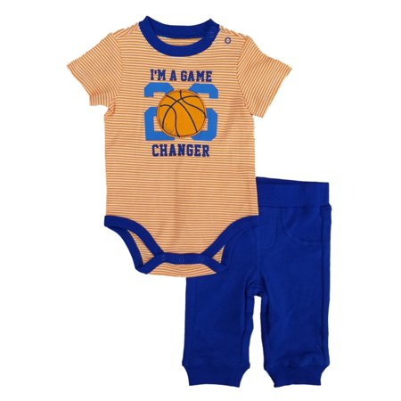 Infant Boys 2-Piece Game Changer Basketball Bodysuit & Pants Set