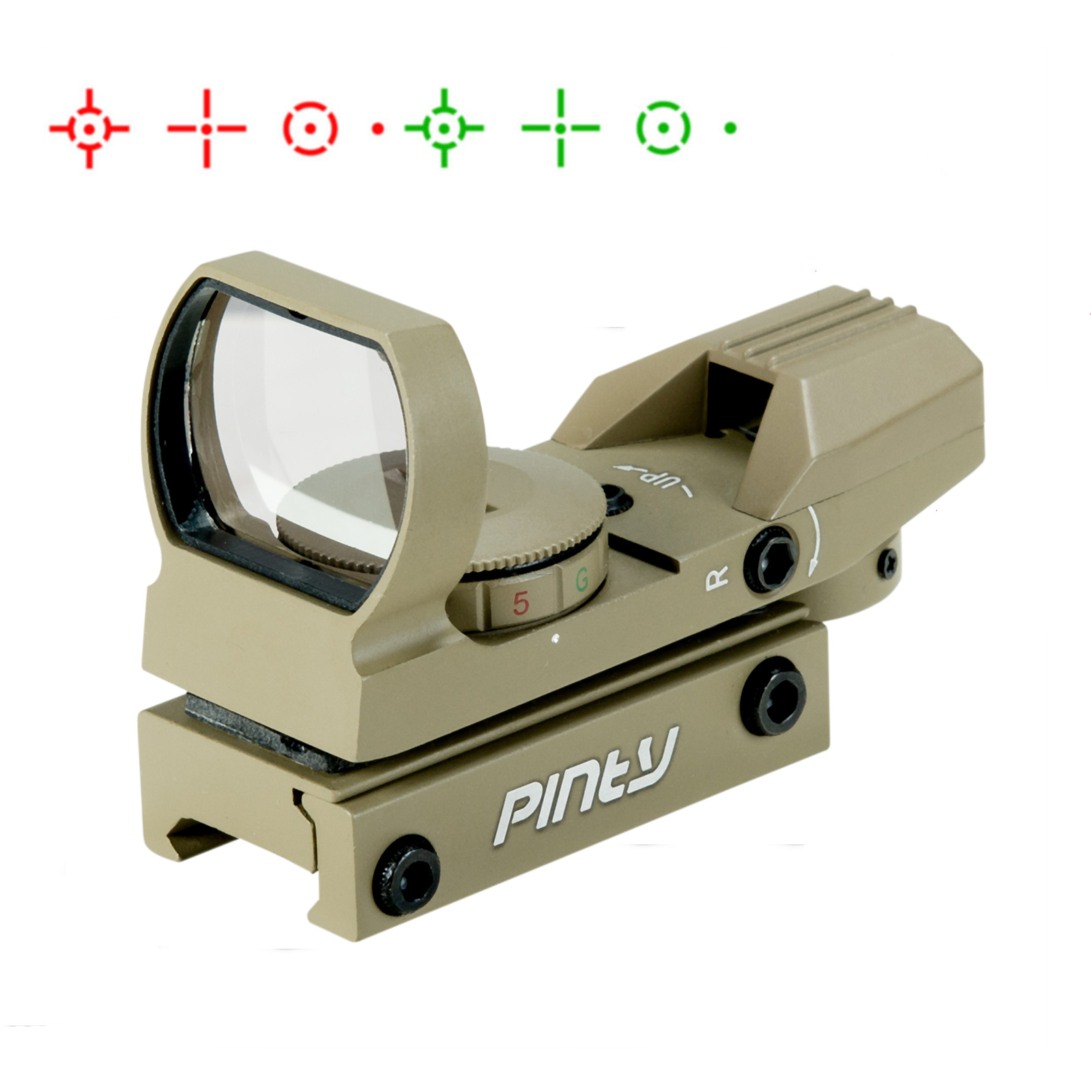 Reflex Holographic Riflescope Red/Green Dot Sight W Mount 20mm for Hunting