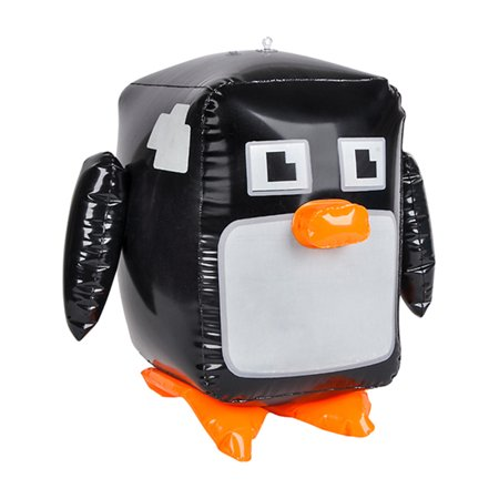 Inflatable Pixel Animal Penguin Beach Swimming Pool Party Favor - Green Beach Balls