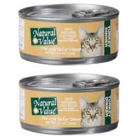 Natural Value Cat Food, Pate Turkey & Giblets, 3 Oz, 24 Ct by NV Imports