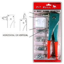 Pop Rivet Gun Tool Hand Operated Squeeze Riveter With 40 Rivets For Riveting Walmart Com