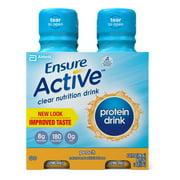 Ensure Active Clear Nutrition Drink, Peach, 10 fl oz (3-4 Packs)