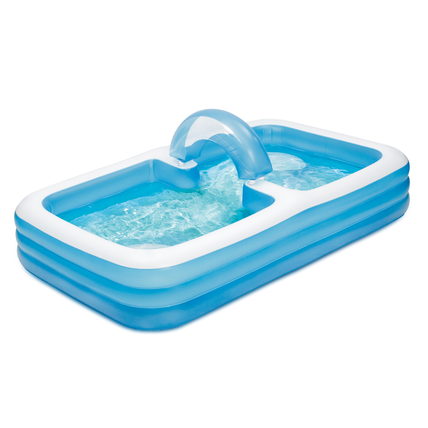 Summer Waves Inflatable Rectangular Swim Through Family Lounge Pool, 10'