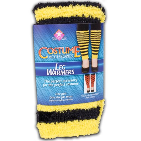 Star Power Women Bumblebee Costume 2pc Leg Warmers, Yellow Black, One-Size (14