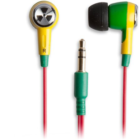 - EarPollution Ozone Earbuds - Green/Yellow (EP-OZONE-GY-03)