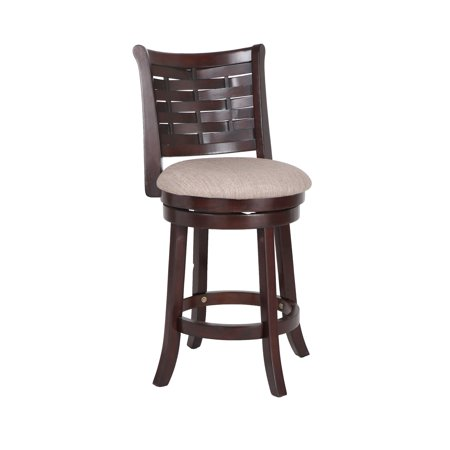 New Classic Furniture Preston Cherry 24-inch Counter Stool with Fabric Seat