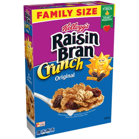Cereal Dish - (2 Pack) Kellogg's Raisin Bran Crunch Breakfast Cereal, 24.8 Oz