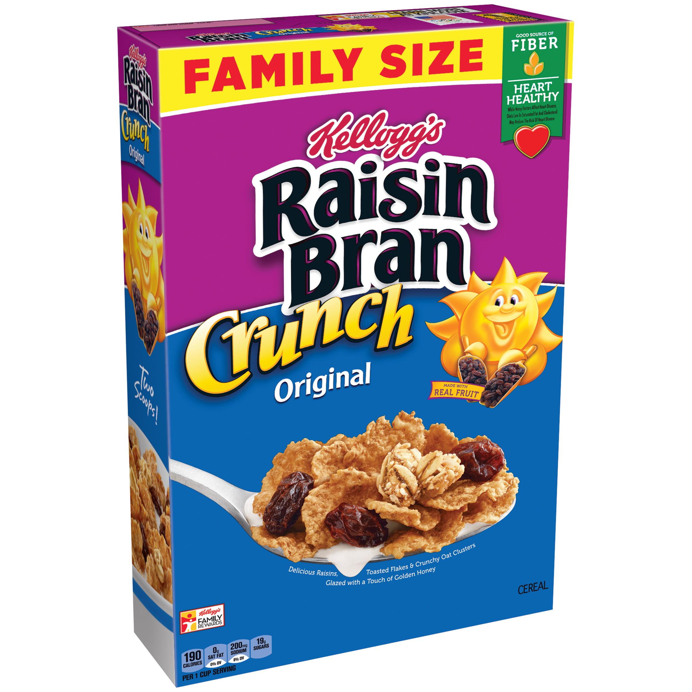 (2 Pack) Kellogg's Raisin Bran Crunch Breakfast Cereal, 24.8 Oz