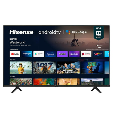 "Hisense 43A6G - 43"" Diagonal Class (42.5"" viewable) - A6G Series LED-backlit LCD TV - Smart TV - Android TV - 4K UHD (2160p) 3840 x 2160 - HDR - gray, black"