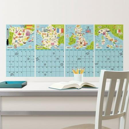 WallPops Bon Voyage 4 Piece Calendar Decal (Bon Voyage Stickers)