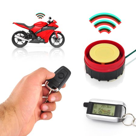 PYLE PLMCWD75 - Watch Dog Motorcycle Vehicle Alarm Security System, Remote Auto-Start, Automatic Re-Arm, Includes (2) ECU Control Transmitters, Anti-Hijack Engine (Pyle Remote Start System)