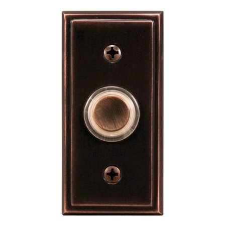 Heath Zenith SL-602-02 Wired Push Button with Oil Rubbed Bronze Finish, Metal