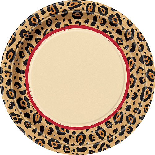 Cheetah Rose Animal Print Large Paper Plates (8ct)  sc 1 st  Walmart & Cheetah Rose Animal Print Large Paper Plates (8ct) - Walmart.com