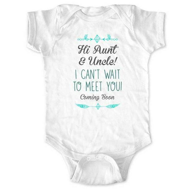 How Does Aunt /& Uncle Sound bodysuit,Pregnancy Announcement Bodysuit Baby Announcement for Aunt,New Aunt,Surprise For Aunt,Reveal To Family