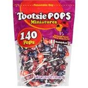 Tootsie Pops Miniature Assorted Flavors Lollipop, 25.9 Oz., 140 Count