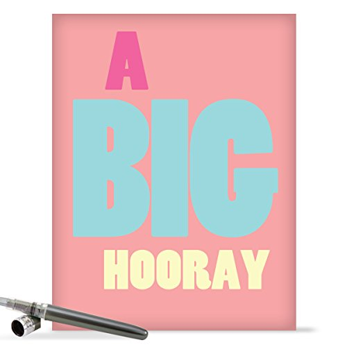 "J9690 Jumbo Funny Congratulations Greeting Card: 'Big Hooray Congratulations' with Envelope (Jumbo Size: 8.5"" x 11"")"