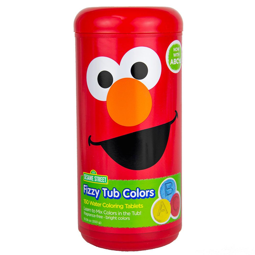 Sesame Street Fizzy Tub Color Tablets, Assorted Bathwater Colors, 150 Ct