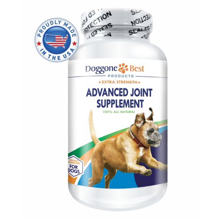Glucosamine for Dogs - Best Joint Supplements for Dogs - Chondroitin - MSM - Advanced - Eases Your Dogs Hip Pain and Increases Mobility - Chewable All Natural Tablets - Made in the