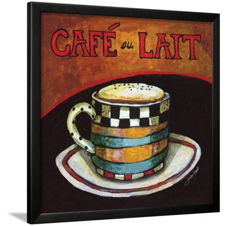 Cafe Au Lait Framed Print Wall Art By Jennifer Garant