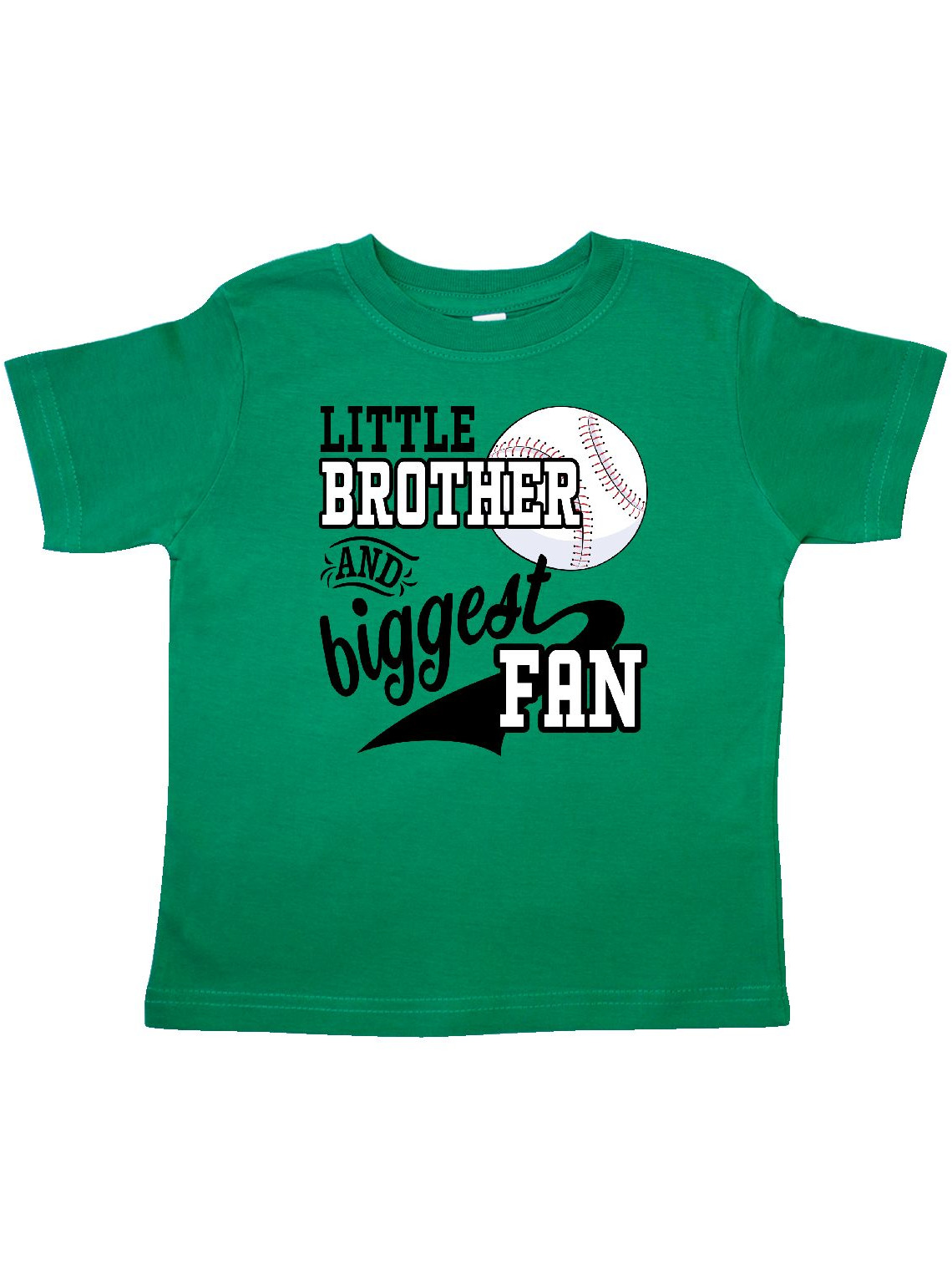 Little Brother and Biggest Fan- baseball family fan Toddler T-Shirt
