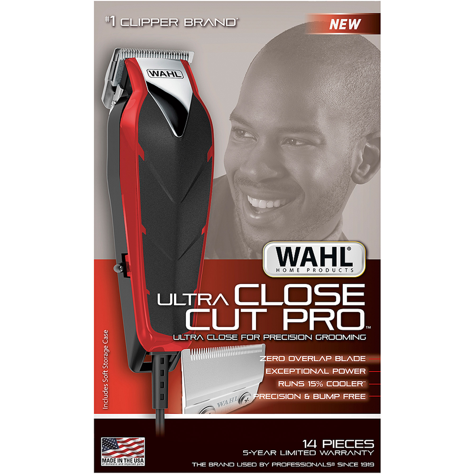 Wahl Ultra Close Cut Pro Powered Corded Hair Clipper - 6 Guide Comb[s] - Ac Supply (79111-1301)