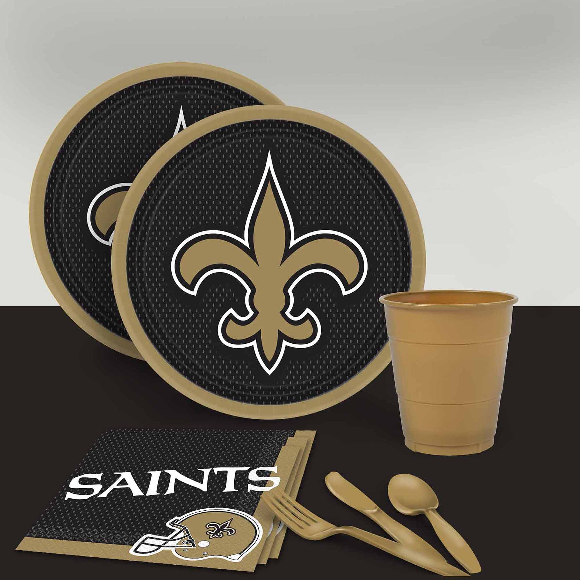 New Orleans Saints Tableware Party Pack for 16