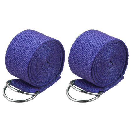 2-pack 6 Feet Adjustable Sport Yoga Stretch Strap D-Ring Belt Waist Leg Fitness Gym Kit