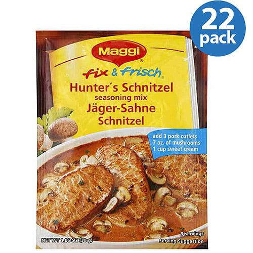 Maggi Fix & Frisch Hunter's Schnitzel Seasoning Mix, 1.06 oz, (Pack of 22)