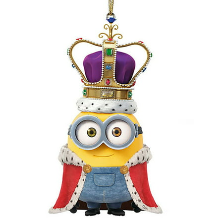 Despicable Me King Bob Minion Christmas Holiday Ornament 225 Inches