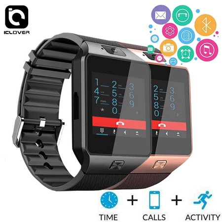 IClover 2019 Bluetooth Smart Watch For Android IOS Phone Samsung iPhone Camera SIM Slot