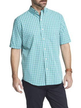 Arrow Men's Hamilton Poplin Plaid Short Sleeve Button Down Shirt