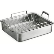 "Tramontina Prima Deep 16.5"" Roasting Pan with Basting Grill and V-Rack"