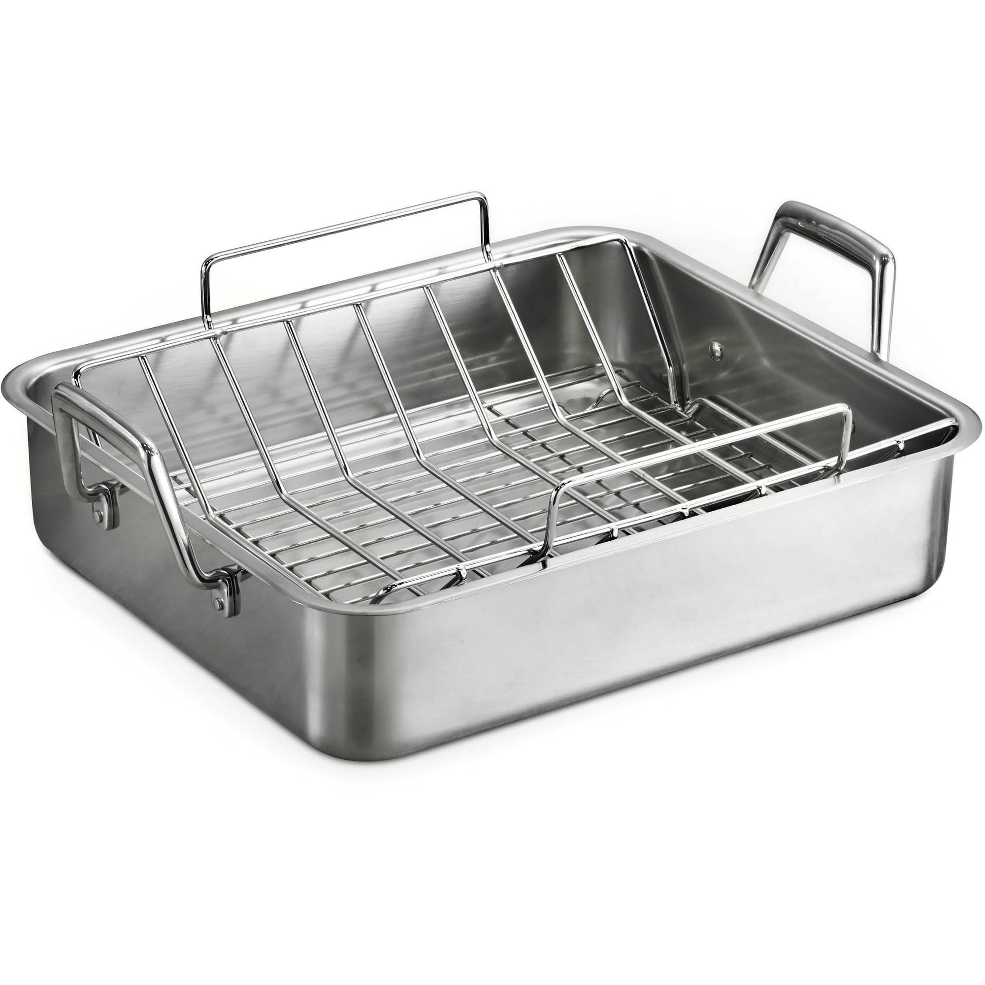"Tramontina 16.5"" Deep Roasting Pan with Basting Grill and V-Rack"
