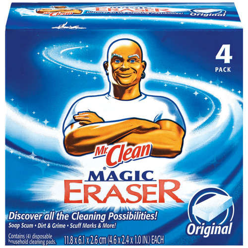 Mr. Clean Original Magic Eraser Disposable Household Cleaning Pads, 4 Pack