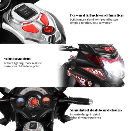 6V 3 Wheel Kids Ride On Motorcycle Battery Powered Electric Toy Power  bicycle