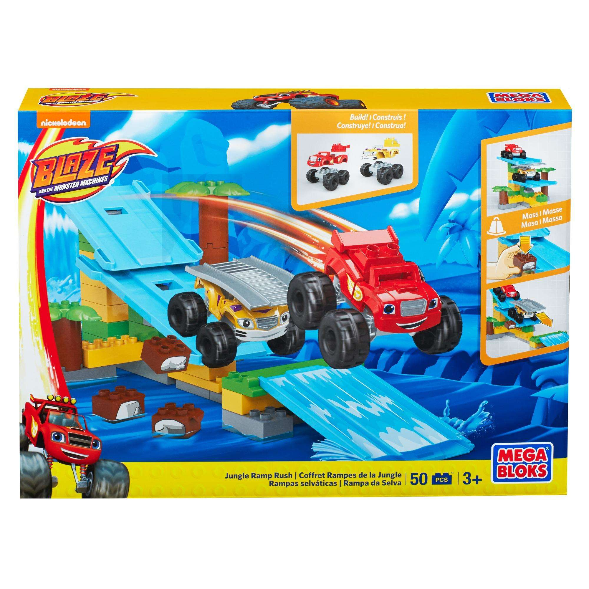 Mega Bloks Nickelodeon Blaze and the Monster Machines Jungle Ramp Rush by Mattel
