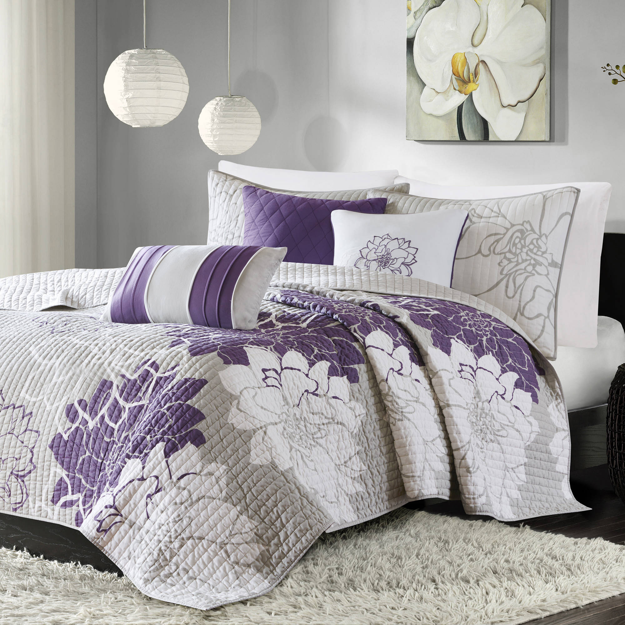 Home Essence Jane 6 Piece Cotton Quilted Coverlet Set by E & E CO LTD