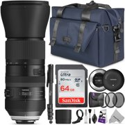 Tamron SP 150-600mm F/5-6.3 Di VC USD G2 Lens for CANON Digital SLR (Model A022) w/ Tamron Tap-in Console and Essential Photo and Travel Bundle