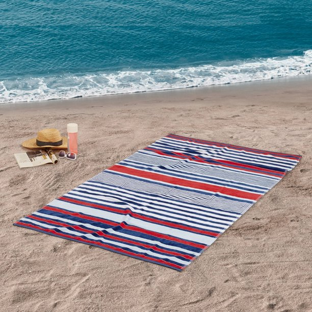 Oversized Americana Stripe Beach Towel