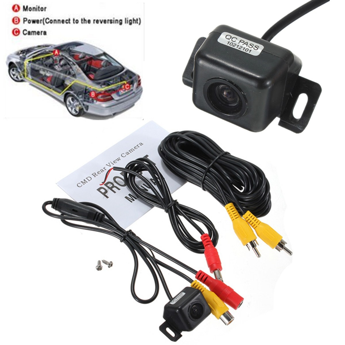 M.way 170°CMOS Night Vision Waterproof Car Rear View Reverse Backup Camera