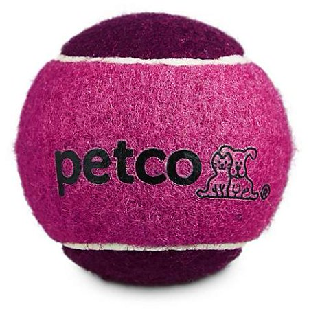 "Petco Tennis Ball Dog Toy in Pink, 2.5"" (pack of 1)"