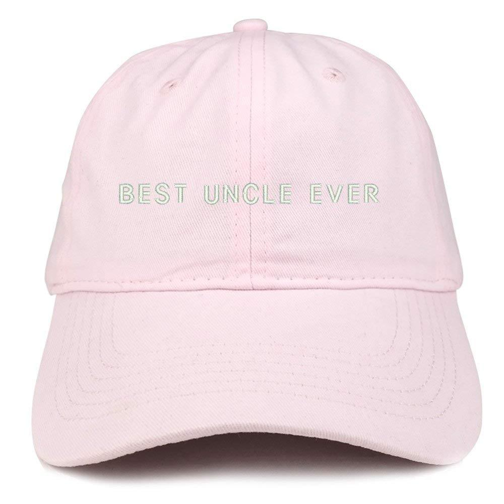 0f8a1f99 Trendy Apparel Shop Best Uncle Ever Embroidered Soft Cotton Dad Hat - Black  - Walmart.com