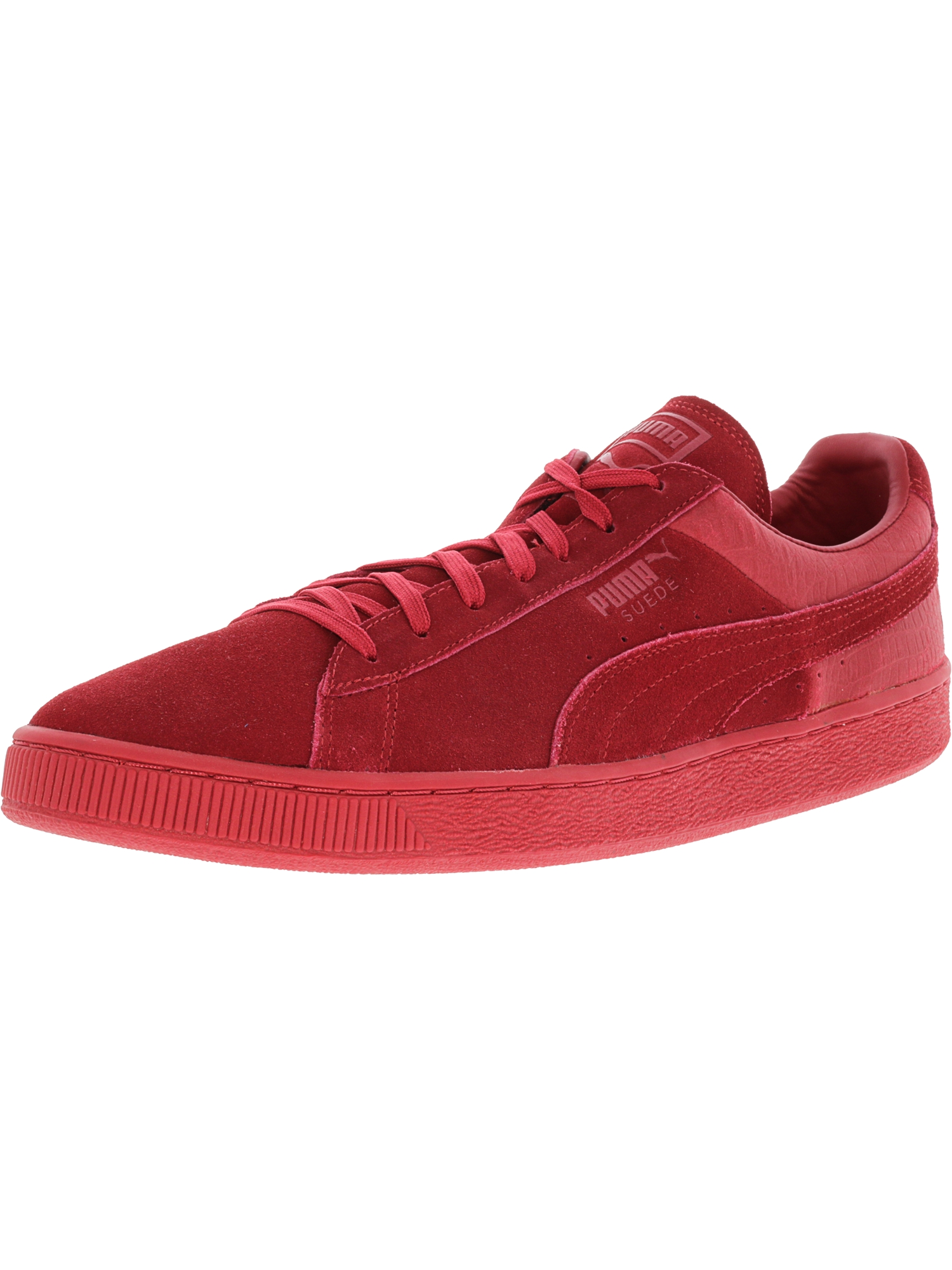 Puma Men's Suede Classic Casual Emboss Barbados Cherry Ankle-High Fashion Sneaker - 13M
