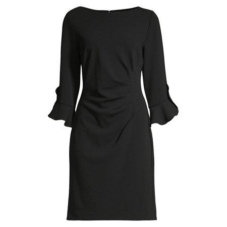 Scuba Ruched Tulip Sheath Dress (Bcbgmaxazria Dress Women)