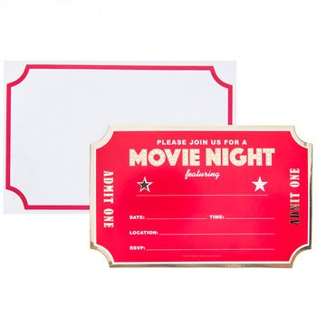 Movie Night Invitations Party Supplies Decoration Special Events 10 Cards](Special Event Invitations)