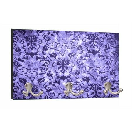 Purple Vintage Style Elegant Floral Damask Print Design - 8